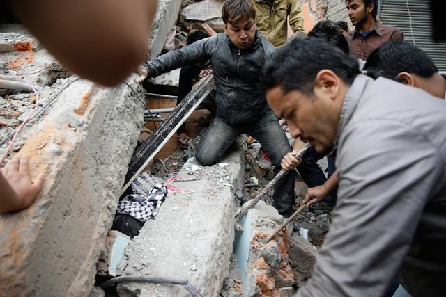 землетрясение в Непале фото