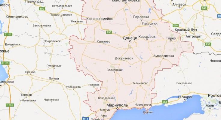 Донбасс Карта