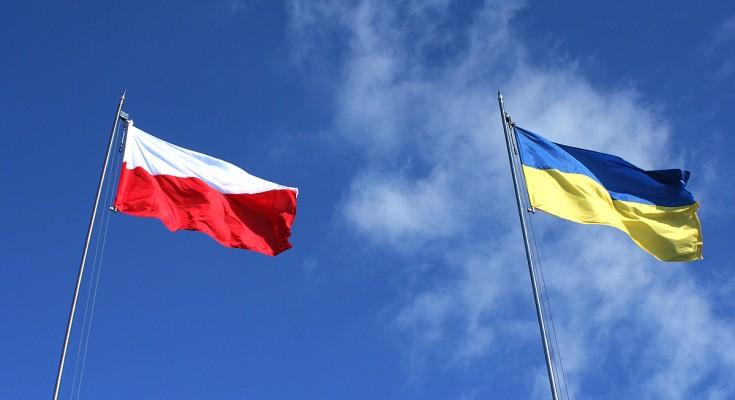 Флаги Польша Украина