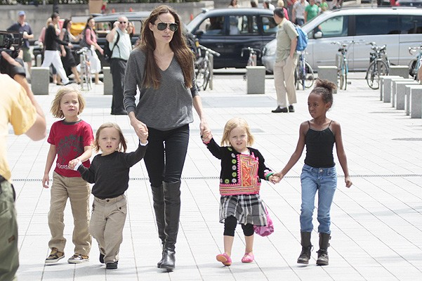 Angelina Jolie visits the London Aquarium with her kids in the UK