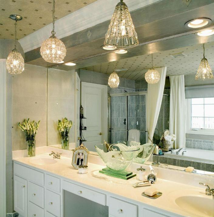 Люстры для ванной комнаты классика